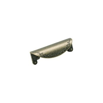Cup Pull - Weathered Brass Finish - 3 inch