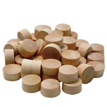 Flat Head Wooden Plugs ~ 3/8""