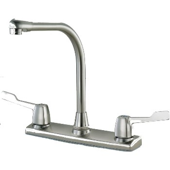 Kitchen Faucet, Hi - Rise ~ Satin Nickel