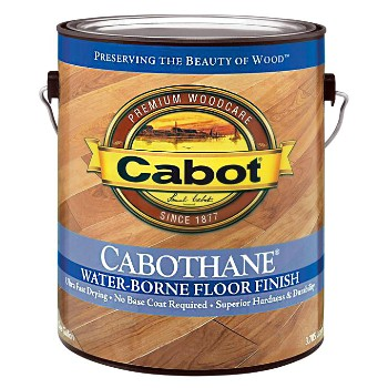 Satin Floor Finish, Water Borne Clear ~ Gallon