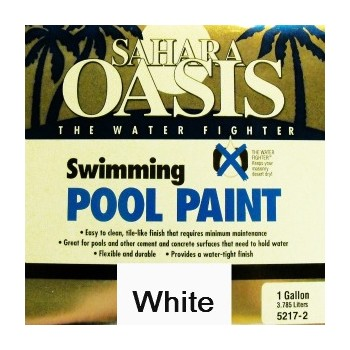 Sahara Oasis 5210-2 Swimming Pool Paint, White ~ Gallon