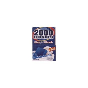 2000 Flushes 208017 Toilet Cleaner, 2000 Flushes Blue Plus Bleach 3.5 ounces