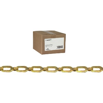 1/0 Brass Plumbers Chain, Bright, 100' per Carton