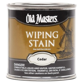 Wiping Wood  Stain, Cedar ~ Half Pint