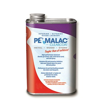 Peacock Labs 64529 Permalac Brand Original Clear Coat,  Matte Finish  ~ Quart
