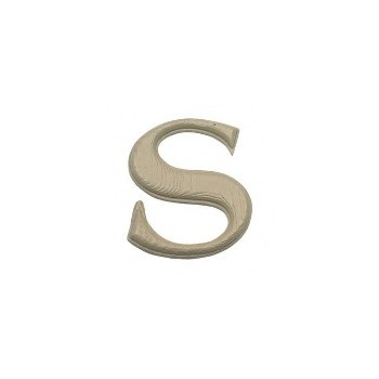 House Letter S,   Simulated Wood-Grain Letter ~ 7""
