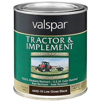 BPS Tractor & Implement Enamel,  Low Gloss Black ~ Quart