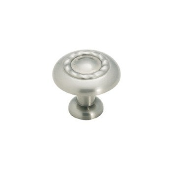 Knob - Inspirations Rope Satin Nickel Finish - 1.25 inch