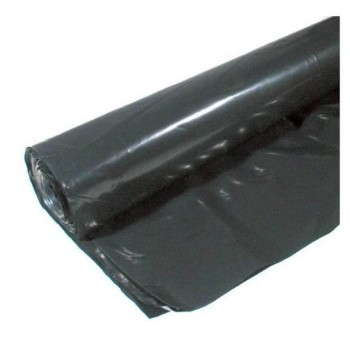 Coverall Plastic Sheeting, Black ~ 15 x 25 Ft x  6 Mil