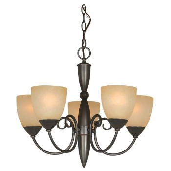 5 light Chandelier, Berkshire Series ~ Classic Bronze