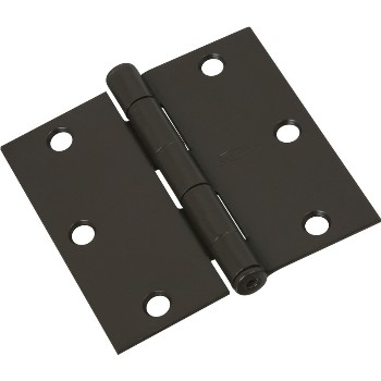 Square Corner Full Mortise Door Hinge, Oil Rubbed Bronze ~  3.5""