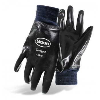 Boss 931 Cotton Lined Neoprene Dipped Gloves ~ Large