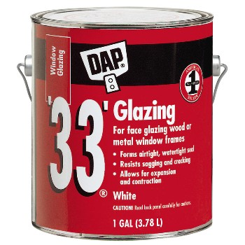 White 33 Window Glazing ~ 1 Gallon