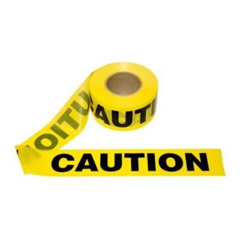 "Irwin 66231 Caution Tape, Yellow ~ 3"" x  1000 Ft"