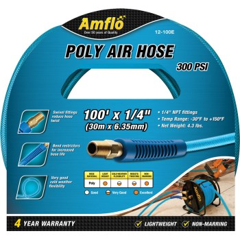 "Poly Air Hose, Blue ~ 1/4"" x 100 Ft."