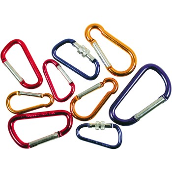 GreatNeck 17670 Tool Choice Assorted Size and Color Carabiner Set ~ 9 Pieces 17670