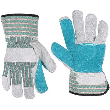 Double Leather Palm w/Safety Cuff Work Gloves