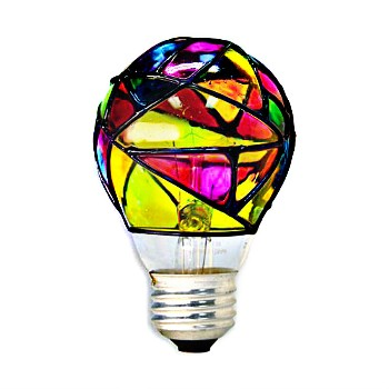 GE 46645 Stained Glass Bulb, 25 watt