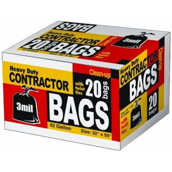 Heavy Dutry Contractor Bags,  3 Mil Thick ~ 42 Gallon Capacity