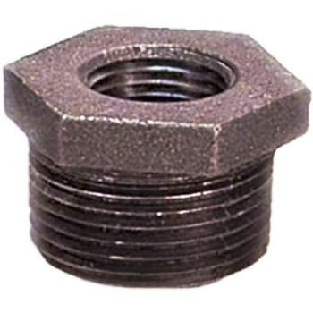 Hex Bushing - Black Steel - 2 x 1 1/2 inch