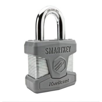 Kwikset 90260-001 SmartKey Padlock ~ Standard Shackle