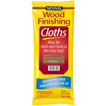 Chestnut Stain Finishing Cloths ~ 8 Cloths per Pack