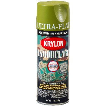 Ultra Flat Camouflage Paint, Light Camo Green ~  11oz.