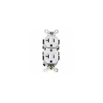 Leviton S02-0CR20-0WS Duplex Outlet