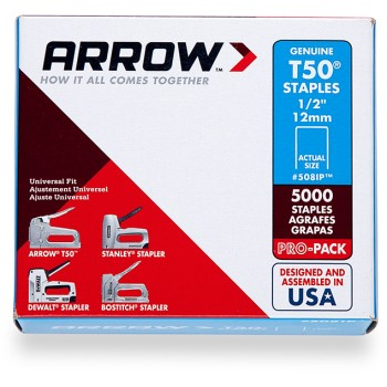 Staples - T50 Arrow Staple - 1/2 inch