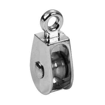 "Single Wheel Solid Eye Pulley ~  2"" x 1/2"""