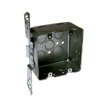 Square Switch Box, 2 Gang 4 inch 2 1/8 inch Deep