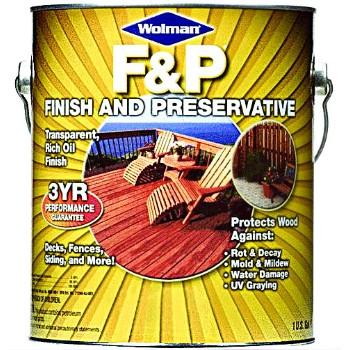 Rust-Oleum 14416 Wolman F & P Finish & Preservative, Cedar/Gal