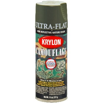 Ultra-Flat Camouflage Paint, Camo Olive  ~ 11oz Cans