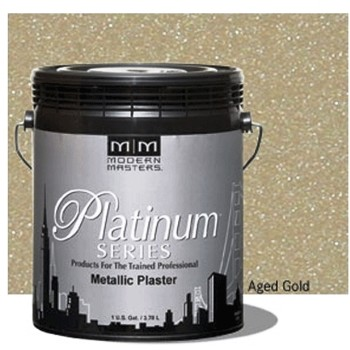 Metallic Plaster,  Aged Gold ~ One Gallon