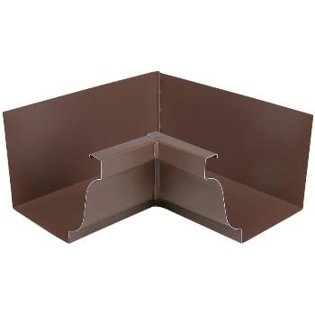 Amerimax 2520119 Style K Aluminum Gutter Inside Miter Brown 5