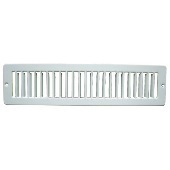"Toe Space Grille, White ~ 2"" x 12"""