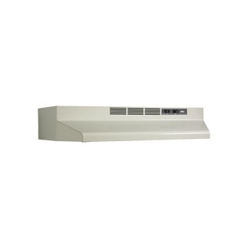 Broan F40000 Series F403002 30 Inch Under-Cabinet Range Hood with 190 CFM Internal Blower, 2-Speed Rocker Control, Dishwasher-Safe Aluminum Grease Filter and Convertible To Recirculating: Bisque F403002