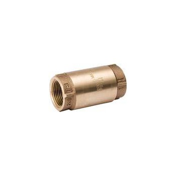 Bronze In-Line Check Valve, Meets Lead-Free Installation ~ 3/4""