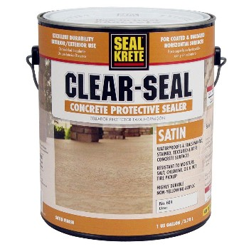 Clear Seal Concrete Protective Sealer, Satin ~ Gallon