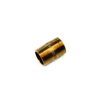 Nipple - Red Brass - 0.75 x 1.5 inch
