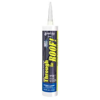 Sashco 14010 Through The Roof Sealant, Clear ~ 10.5 oz