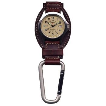 Leather Hanger, Cream Dial, Tan Leather, Silver Carabineer