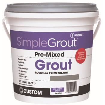 Custom Building Products SimpleGrout #381 Bright White Pre-Mixed Grout 1 gal. PMG3811