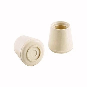 Rubber Leg Tip - Natural White - 1 1/8""