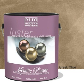 Metallic Plaster,  Greek Olive ~ Gallon