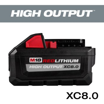 Milwaukee M18 18-Volt Lithium-Ion HIGH OUTPUT XC 8.0Ah Battery