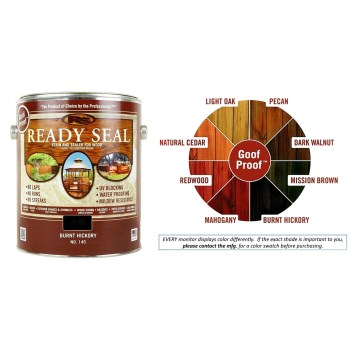 Ready Seal Wood Stain and Sealant, Burnt Hickory ~ Gallon