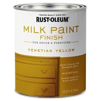 Rust-Oleum 334195 Milk Paint Finish,  Venetian Yellow  ~ Quart