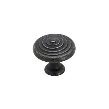 Knob - Wrought Iron Finish - 1.25 inch