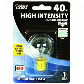 High Intensity Clear Lightbulb,  120v 40w